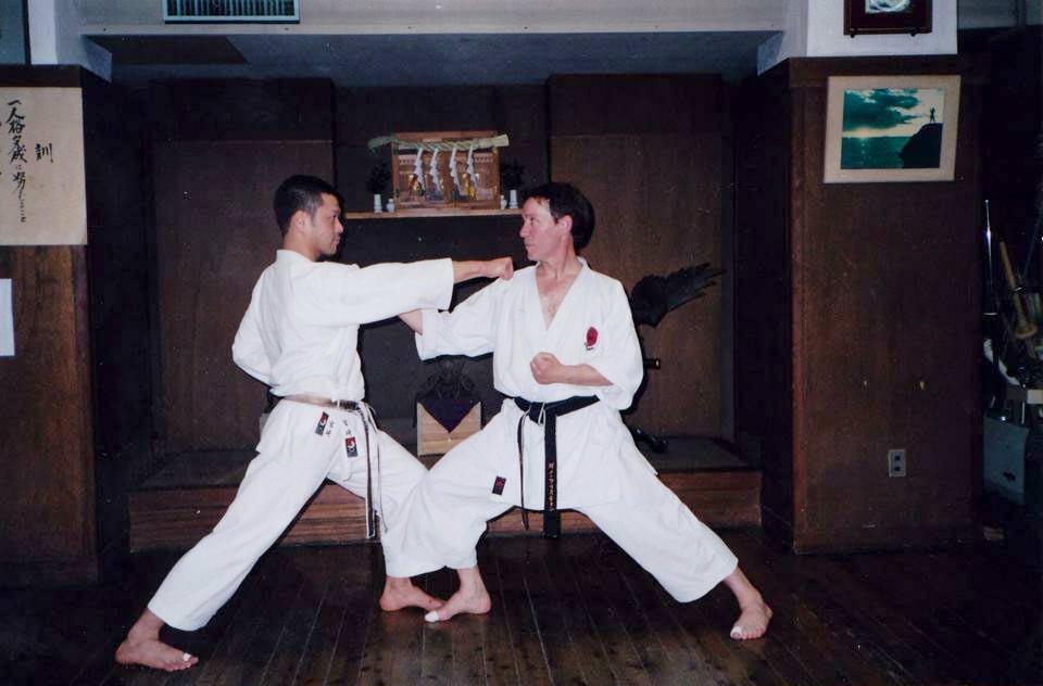 Le Sensei Christian Ganot au Dojo de Maître Nakayama